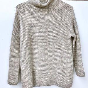 Zara knit chunky turtleneck sweater